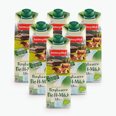 Salzburgerland Organic Whole Milk 1L x6