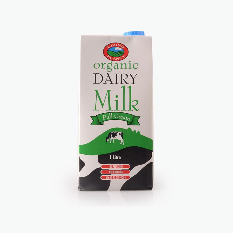 Living Planet Organic Whole Milk 1L