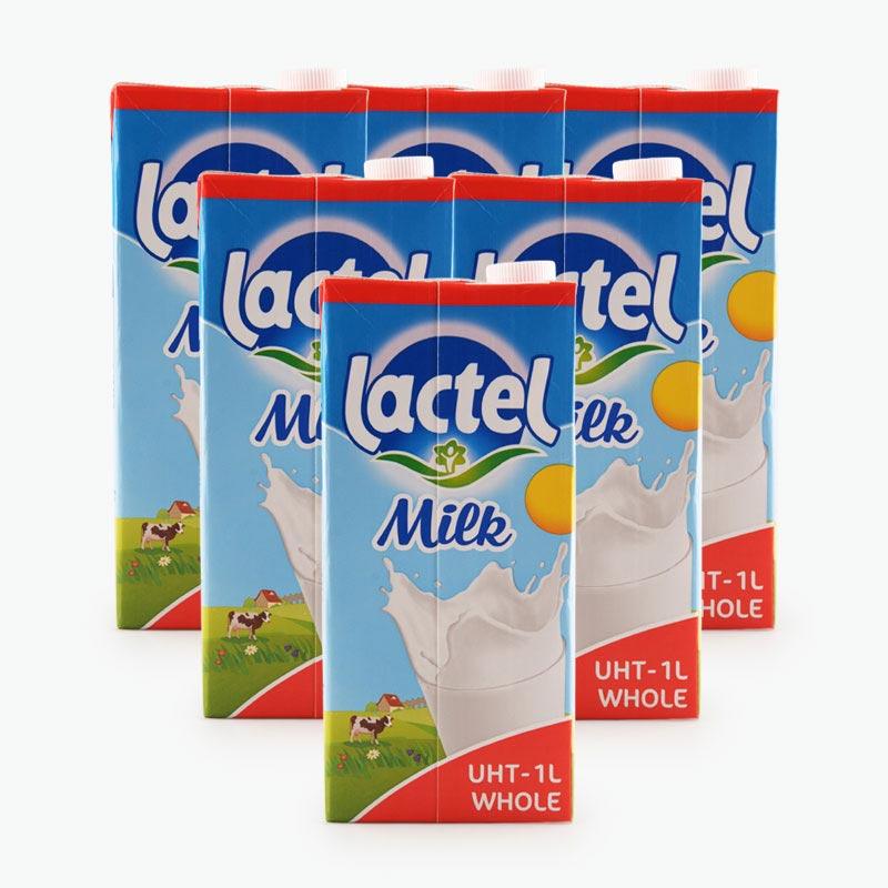 Lactel Whole Milk 1L x6
