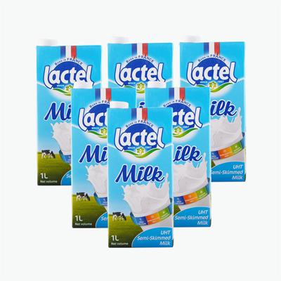 Lactel Semi Skimmed Milk 1L x6