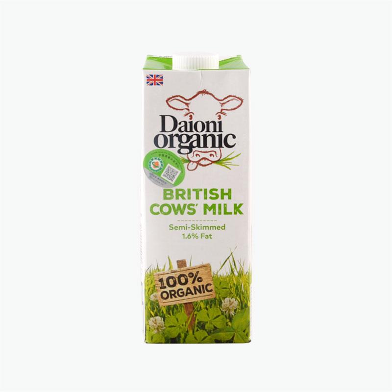 Daioni Organic Semi Skimmed Cow's Milk 1L
