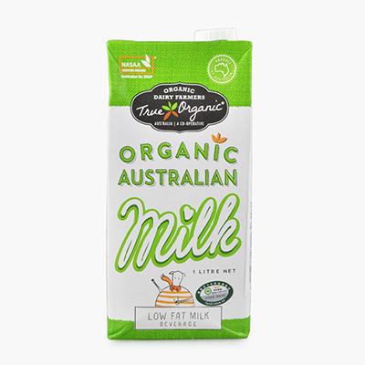 True, Organic Low Fat Milk 1L