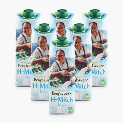 Salzburgerland Semi Skimmed Milk 1L x6
