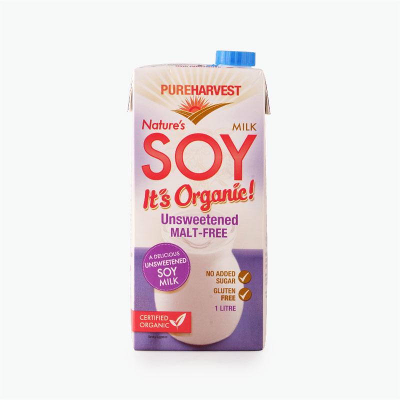 Pureharvest Organic Unsweetened Soy Milk 1L