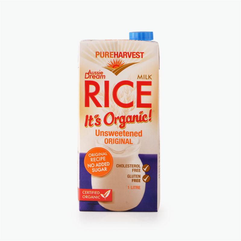 Pureharvest Organic Unsweetened Rice Milk 1L