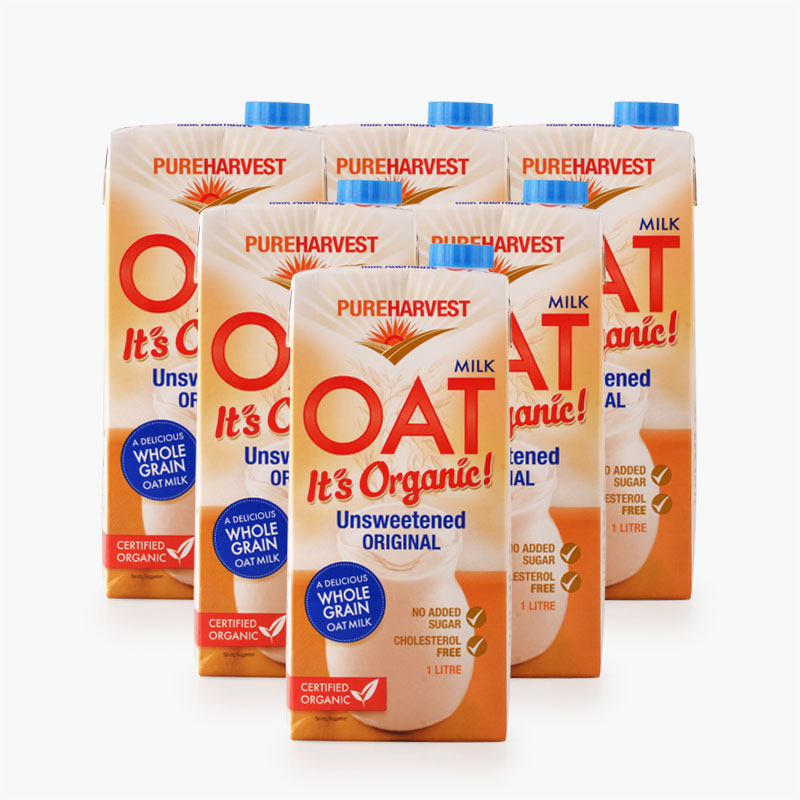 Pureharvest Unsweetened Oat Milk 1L x6