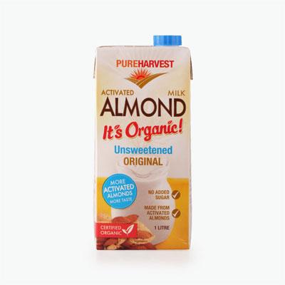 Pureharvest Unsweetened Activated Almond Milk 1L