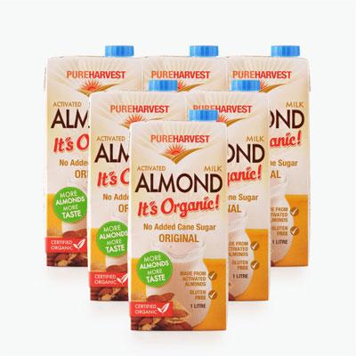 Pureharvest Organic Activated Almond Milk 1L x6