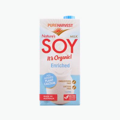 Pureharvest Organic Soy Milk with Calcium 1L