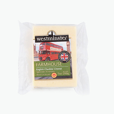 Westminster Farmhouse Cheddar PDO Matured 10 Months 200g