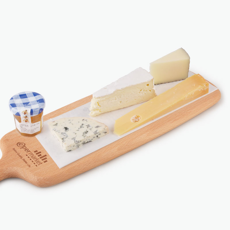Balanced Flavor Cheese Platter with Chopping Board