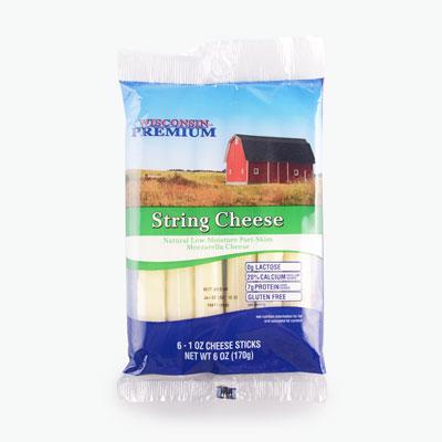 Wisconsin Premium Mozzarella String Cheese 170g