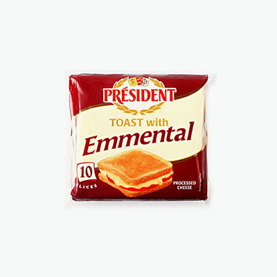 President 10 Toast Emmental Slices 200g
