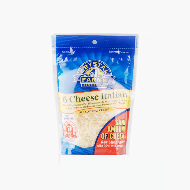 Crystal Farms Finely Shredded 6 Cheese Italian 226g