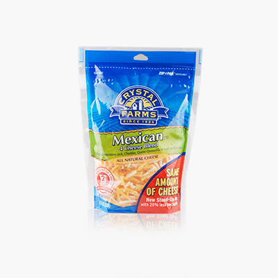 Crystal Farms Finely Shredded 4 Cheese Mexican 226g