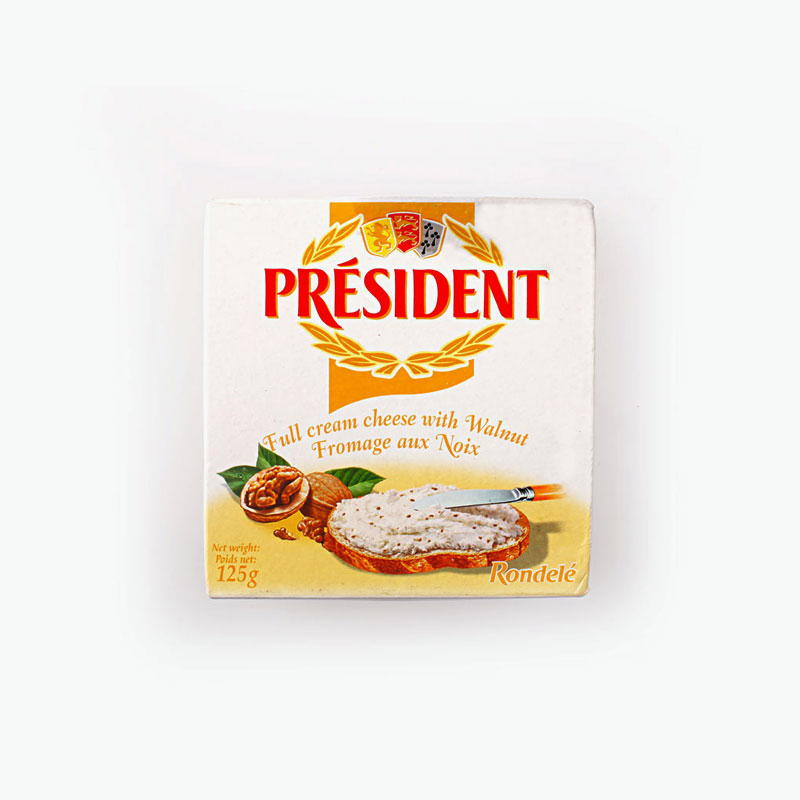 President Rondele Walnut Cream Cheese Spread 125g