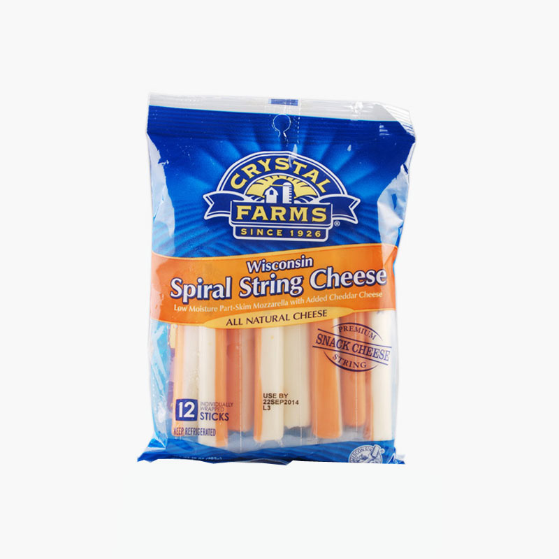 Crystal Farms 12 Spiral String Cheese 283g