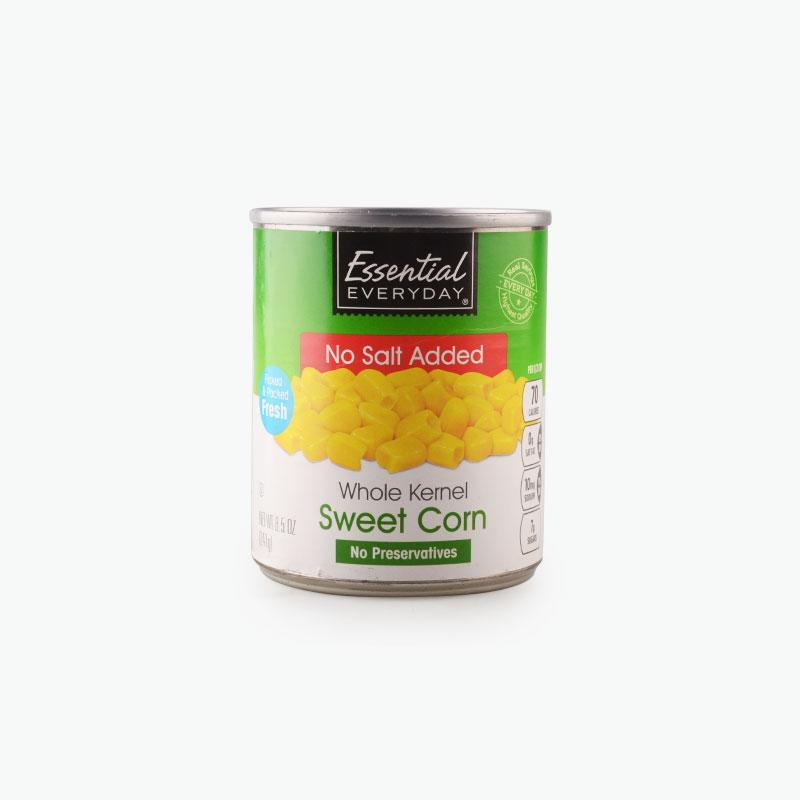 Essential Everyday, Whole Kernel Corn (No Salt Added) 241g