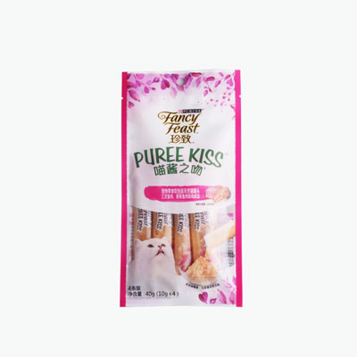 Fancy Feast Puree Kiss Salmon Jelly x4 10g
