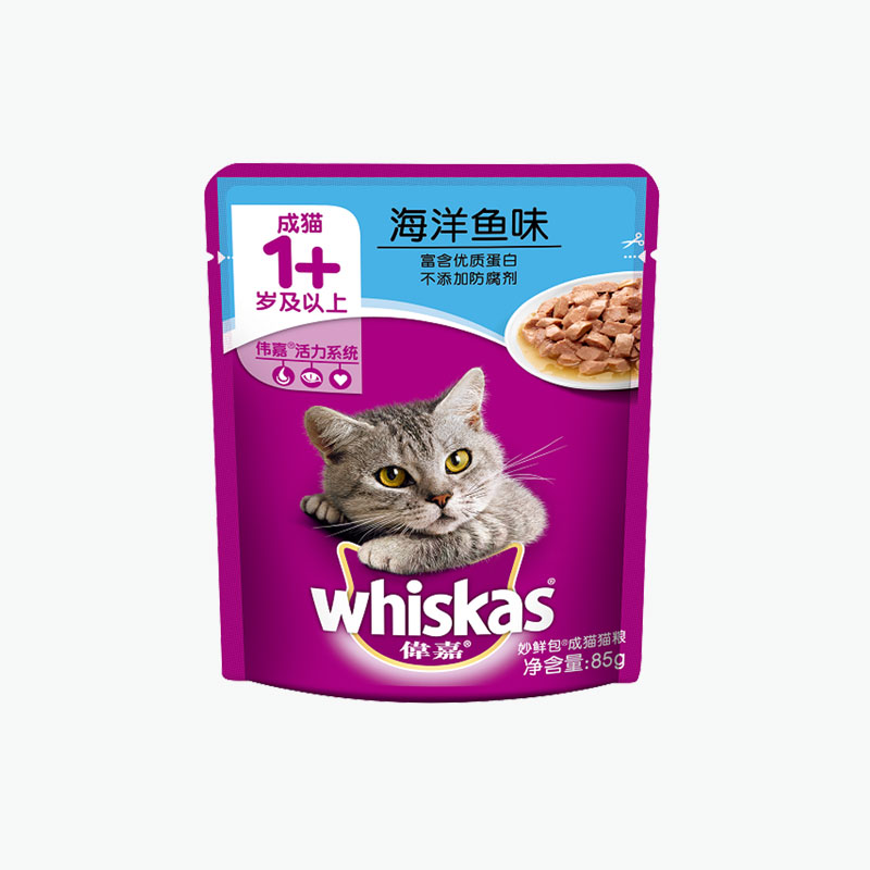 Whiskas, 'Purrfectly Fish' Adult (Ocean Fish) 85g