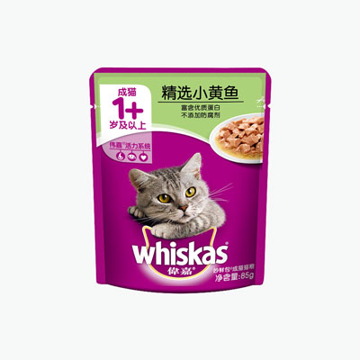 Whiskas, 'Purrfectly Fish' Adult (Yellow Croaker) 85g