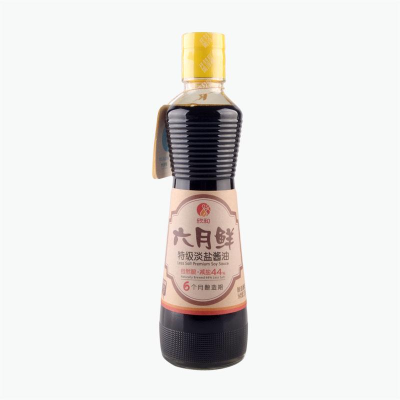 June, Less Salt Premium Soy Sauce 375ml