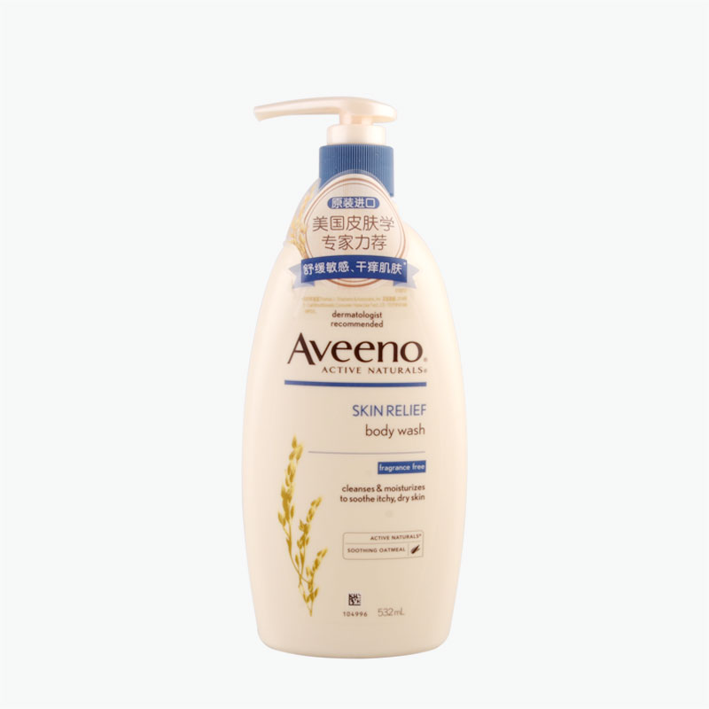 Aveeno Natural Oatmeal Soothing and Gentle Body Wash 532ml