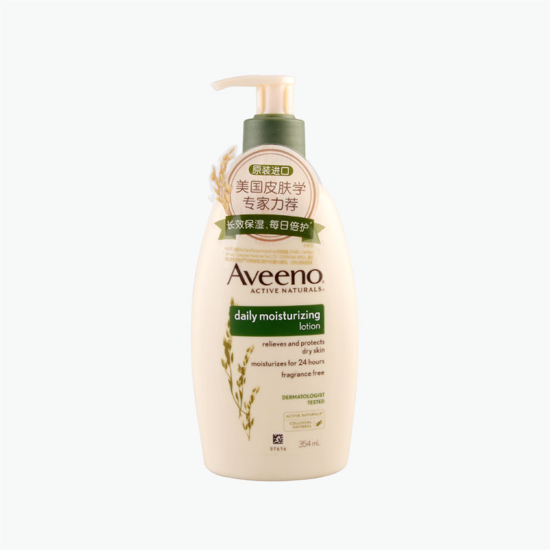 Aveeno Natural Oatmeal Daily Moisturizing Lotion (No Fragrance) 354ml