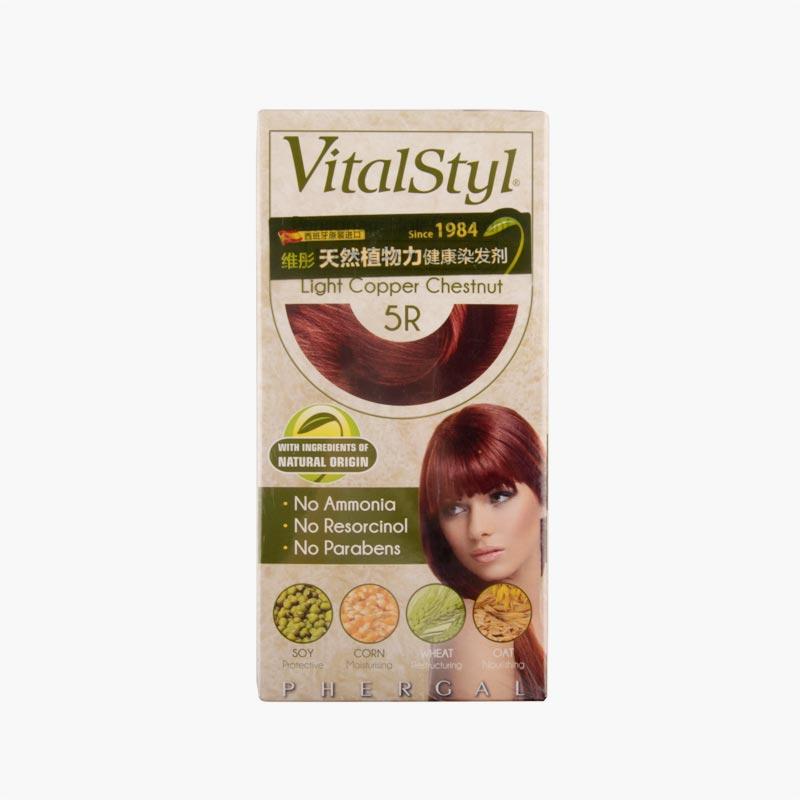Vitalstyl Permanent Hair Colorant Light Copper Chestnut 155ml