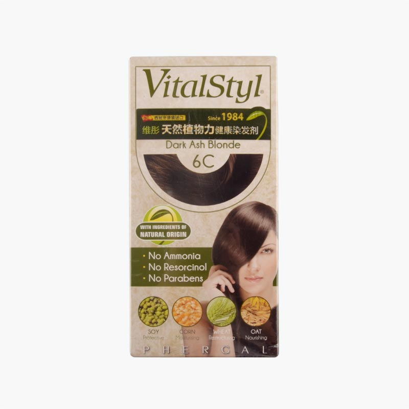 Vitalstyl Permanent Hair Colorant Dark Ash Blonde 155ml
