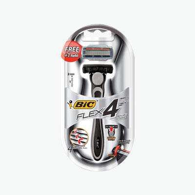 BIC Silver 4 Razor Blades Shaver