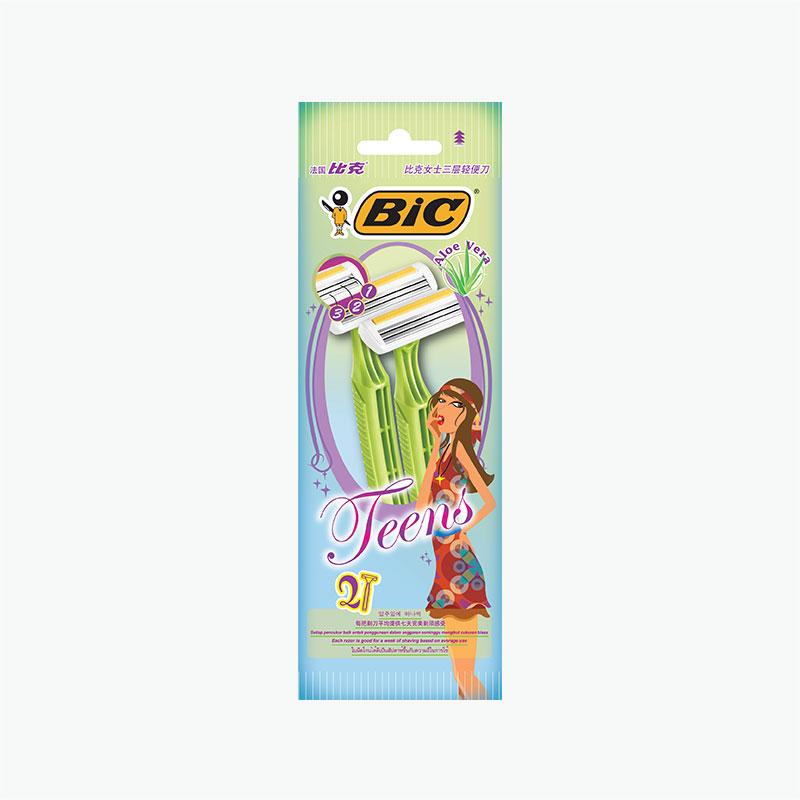 BIC 3 Blades Teens Shaver x 2