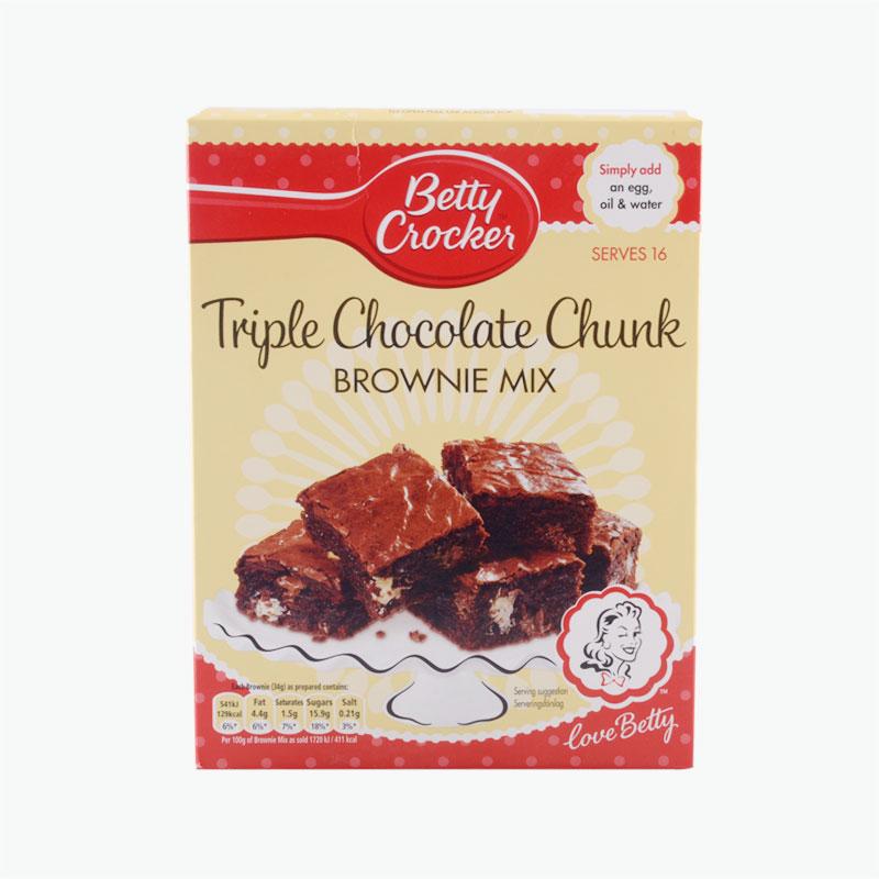Betty Crocker Triple Chocolate Brownie Cake Mix 415g