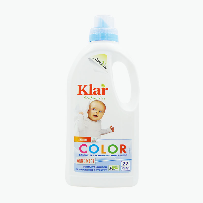 Klar, Laundry Detergent for Sensitive Skin (Colored Clothing) 1L