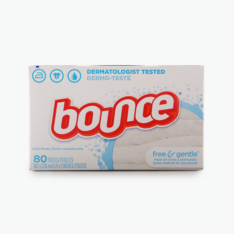 Bounce, Fabric Softener Sheets (Free & Gentle) x80