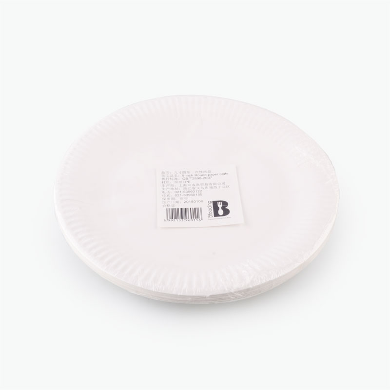 Bfooding 9inch Round Paper Plates 20pcs