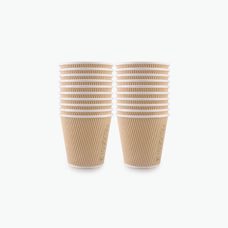 240 ML Corrugated Paper Cups 25pcs