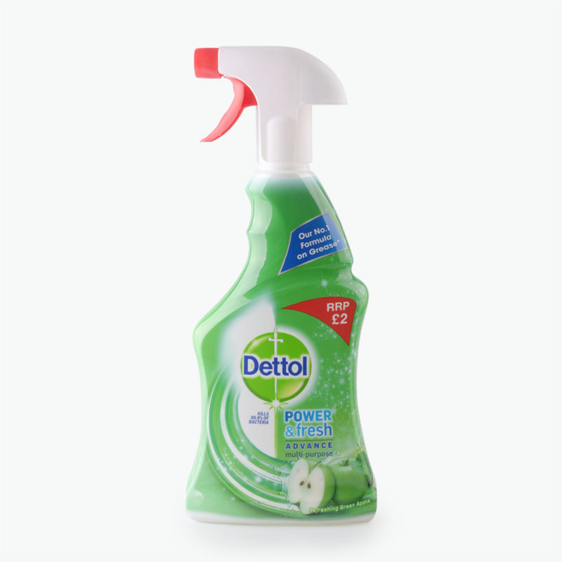Dettol, 'Power & Fresh Advance' Antibacterial Multi Purpose Spray (Green Apple) 500ml