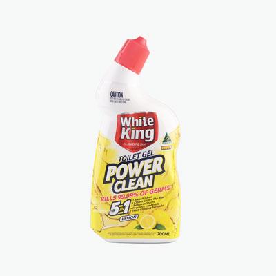 White King Lemon Bleach Toilet Cleaner 700ml