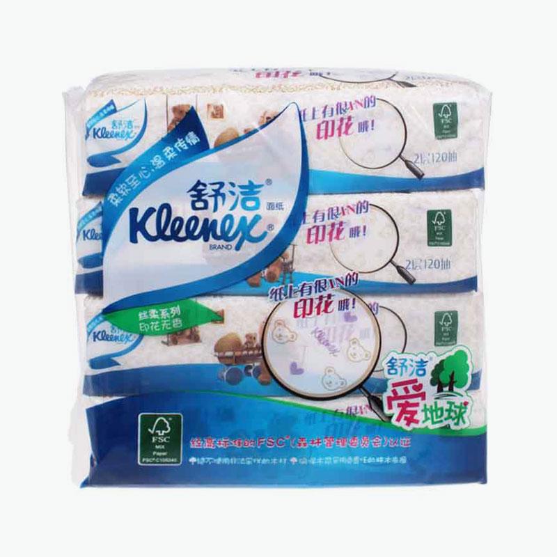 Kleenex, Printed 2-ply Facial Tissues (Teddy Bear Soft Pack) 120 x4