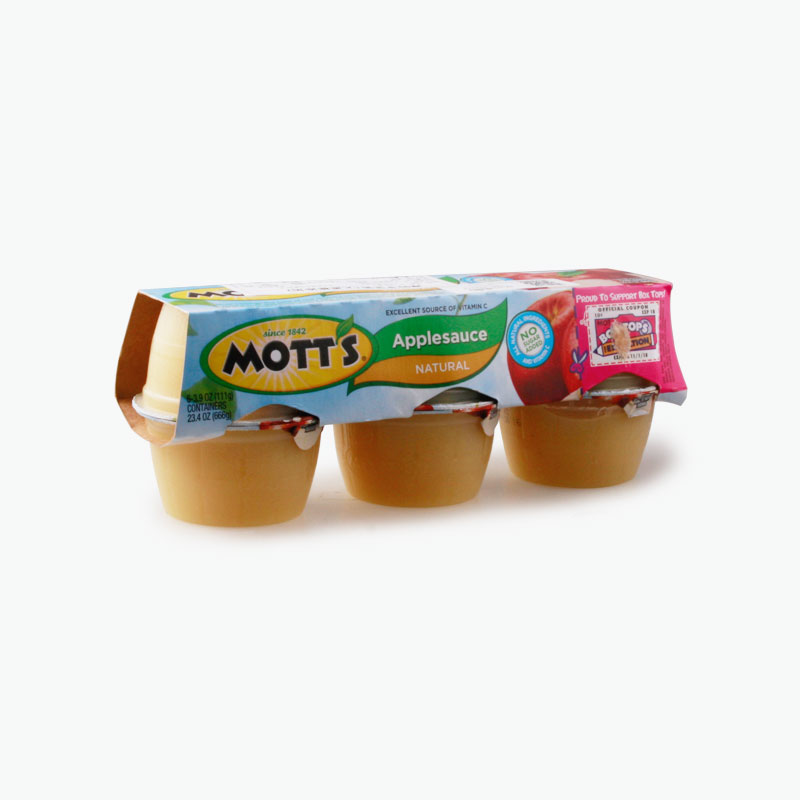 Mott's, Apple Sauce (No Added Sugar) 111g x6