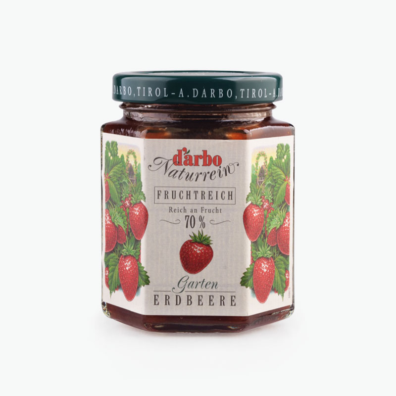 D'arbo, 'Double Fruit' Garden Strawberry Spread 200g