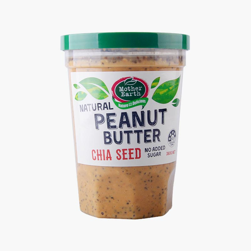 Mother Earth Chia Seed Peanut Butter 380g