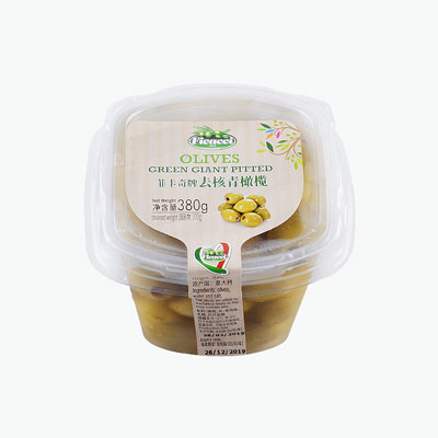 Ficacci Green Giant Pitted Olives 380g