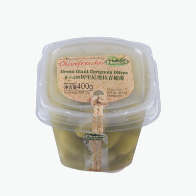 Ficacci Green Giant Cerignola Olives 400g