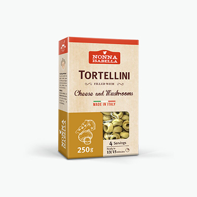 Nonna Isabella, Dried Tortellini (Cheese & Mushrooms) 250g