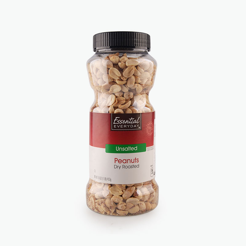 Essential Everyday, Unsalted Dry Roasted Peanuts 453g
