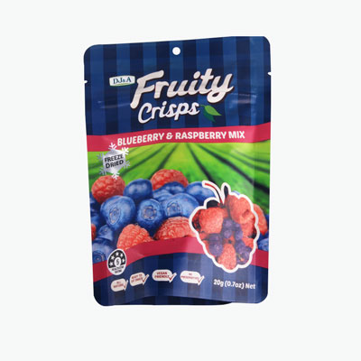 Crispy Dried Fruit Blueberry and Raspberry 20g