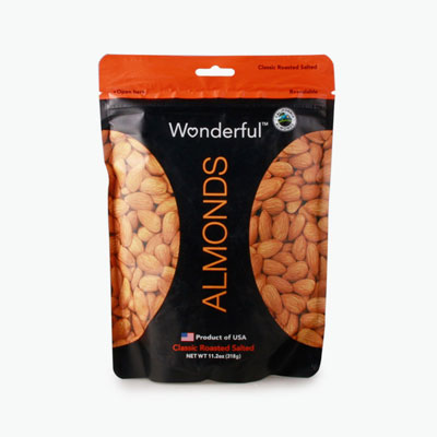 Wonderful, Classic Roasted Salted Almonds 318g