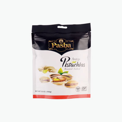 Pasha Roasted Salted Pistachios 100g